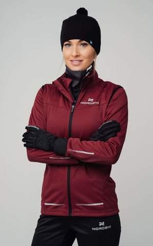 Nordski Pro разминочная куртка женская wine