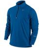 Футболка Nike Racer LS HZ Mid /Рубашка беговая синяя - 1