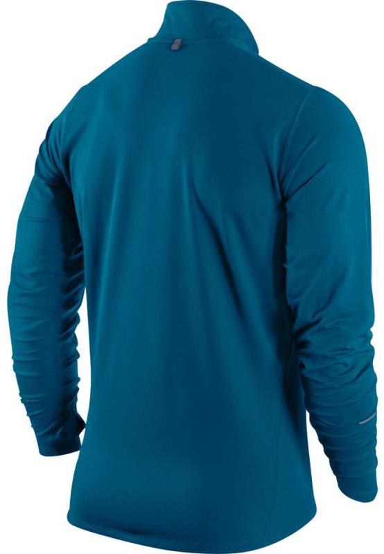 Футболка Nike Racer LS HZ Mid /Рубашка беговая синяя - 2