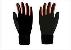 Nordski Arctic Jr детские лыжные перчатки черные-красные