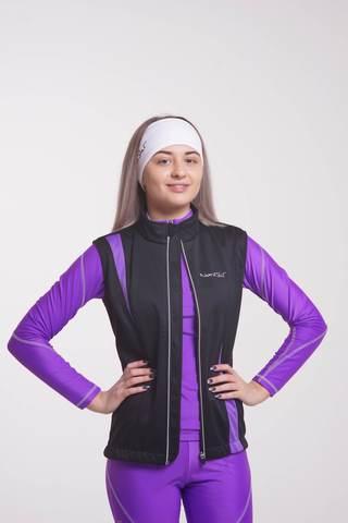 Nordski Active женский лыжный жилет черный-фиолетовый