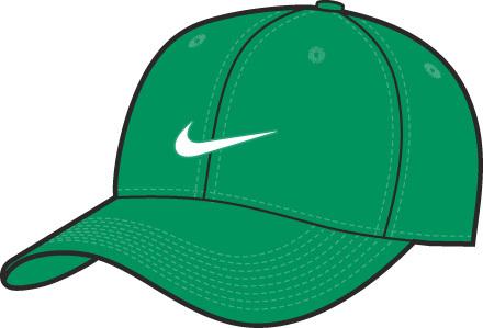 Бейсболка Nike зелёная