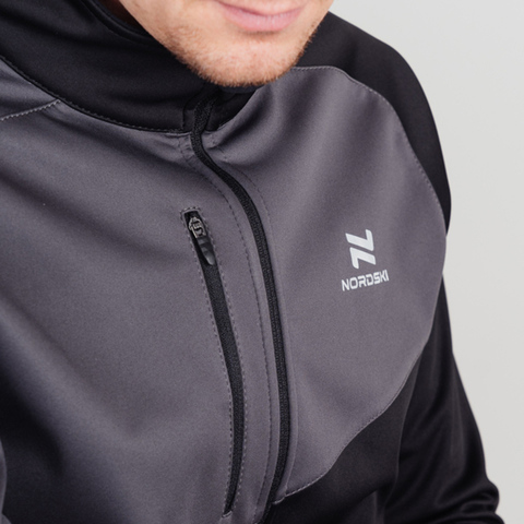 Nordski Premium лыжный костюм мужской grey-black