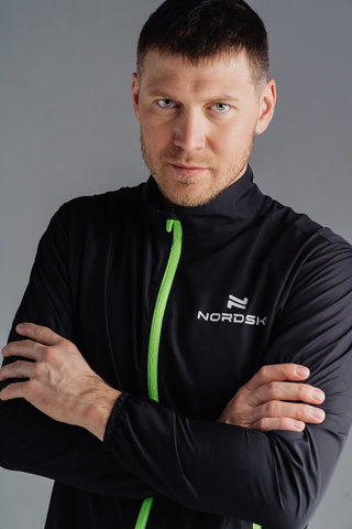 Nordski Motion куртка ветровка мужская Black/Yellow