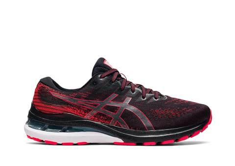 Asics Gel Kayano 28 беговые кроссовки мужские черные-красные