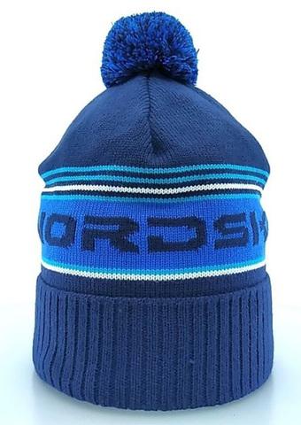 Nordski Stripe теплая шапка dark blue