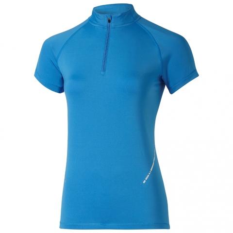 Asics SS 1/2 Zip Top футболка для бега женская синяя