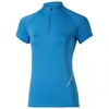 Asics SS 1/2 Zip Top футболка для бега женская синяя - 1