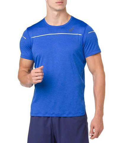 Asics Lite Show Ss Top футболка беговая мужская синяя