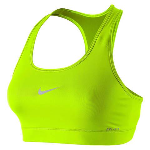 Беговой топ женский Nike Pro Bra зеленый