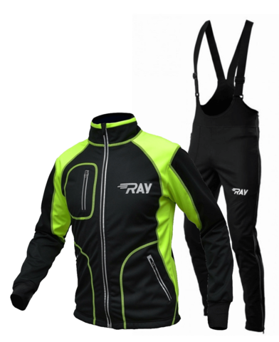 RAY WS Star разминочный лыжный костюм мужской лайм