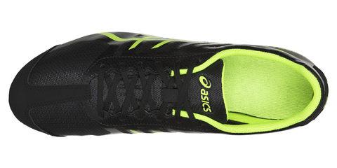Asics Hyper Ld 5 легкоатлетические шиповки на длинные дистанции черные-зеленые