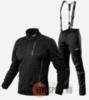 Victory Code Speed Up A2 разминочный лыжный костюм с лямками black - 1