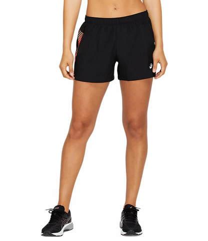 """Asics Icon 4"""" Short шорты для бега женские черные"""