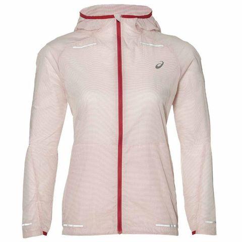 Asics Lite-Show женская ветрозащитная куртка светло-розовая
