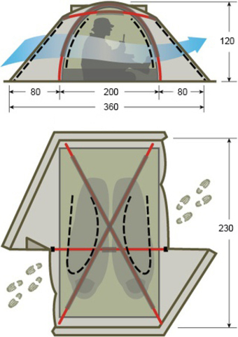 Tengu MK1.08T3 туристическая палатка двухместная