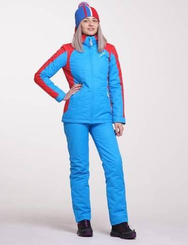 Nordski National утепленный лыжный костюм женский Blue