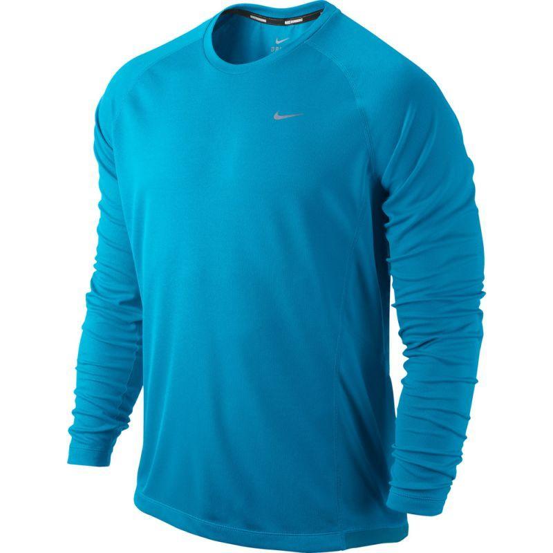 Футболка Nike Miler LS UV Top /Рубашка беговая голубая
