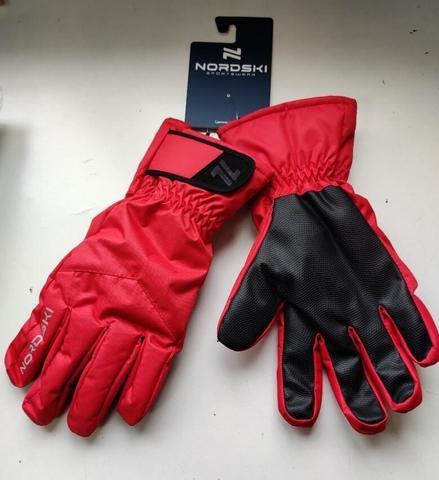 Nordski Jr Arctic Membrane перчатки детские black-red