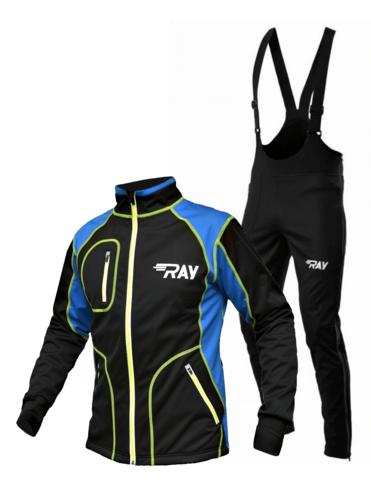 Разминочный лыжный костюм RAY Star WS мужской черный-синий