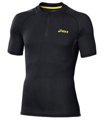 Беговая футболка мужская Asics Fuji Ss 1/2 Zip черная