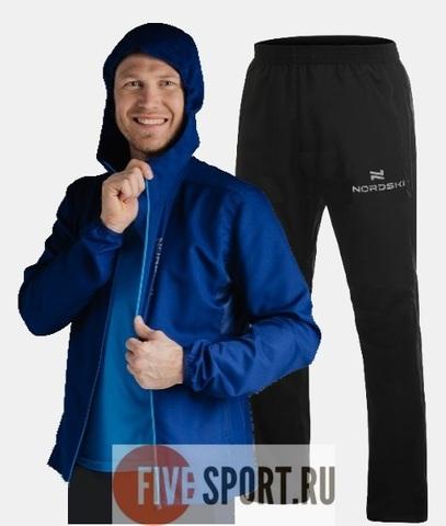 Nordski Run Motion костюм для бега мужской Navy-Black