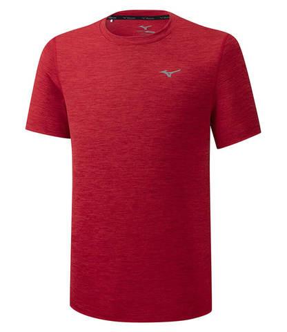 Mizuno Impulse Core Tee беговая футболка мужская красная