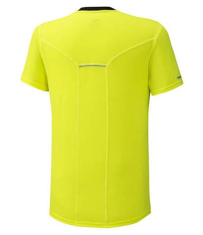 Mizuno Dry Aeroflow Tee беговая футболка мужская желтая