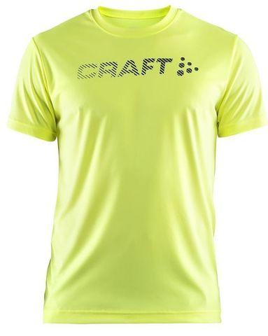 Craft Prime Run Logo мужская беговая футболка Yellow