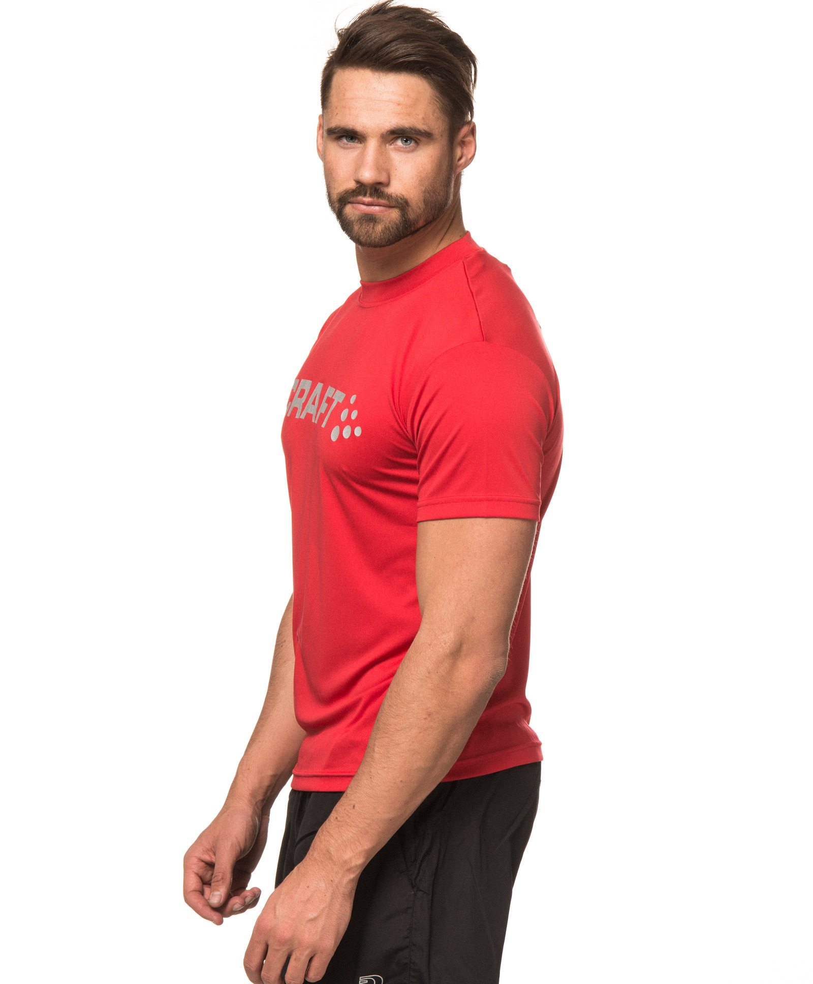 Футболка Craft Active Run Logo Tee мужская red - 4