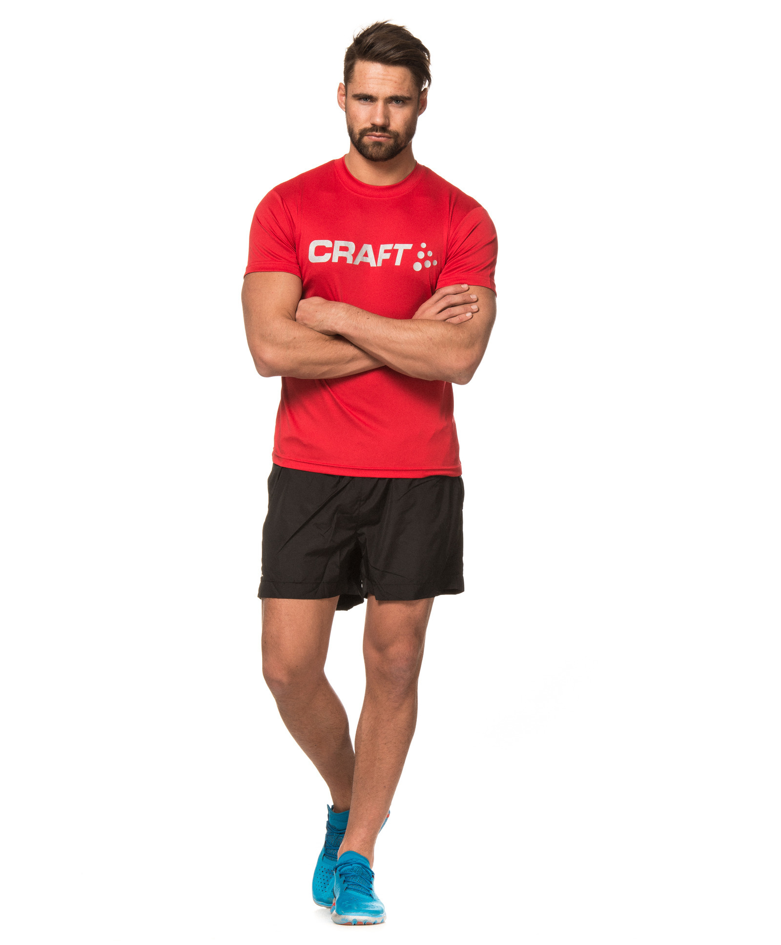 Футболка Craft Active Run Logo Tee мужская red - 5