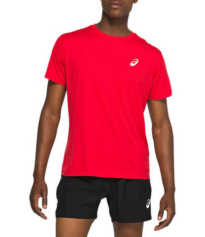 Asics Silver Ss Top футболка для бега мужская красная