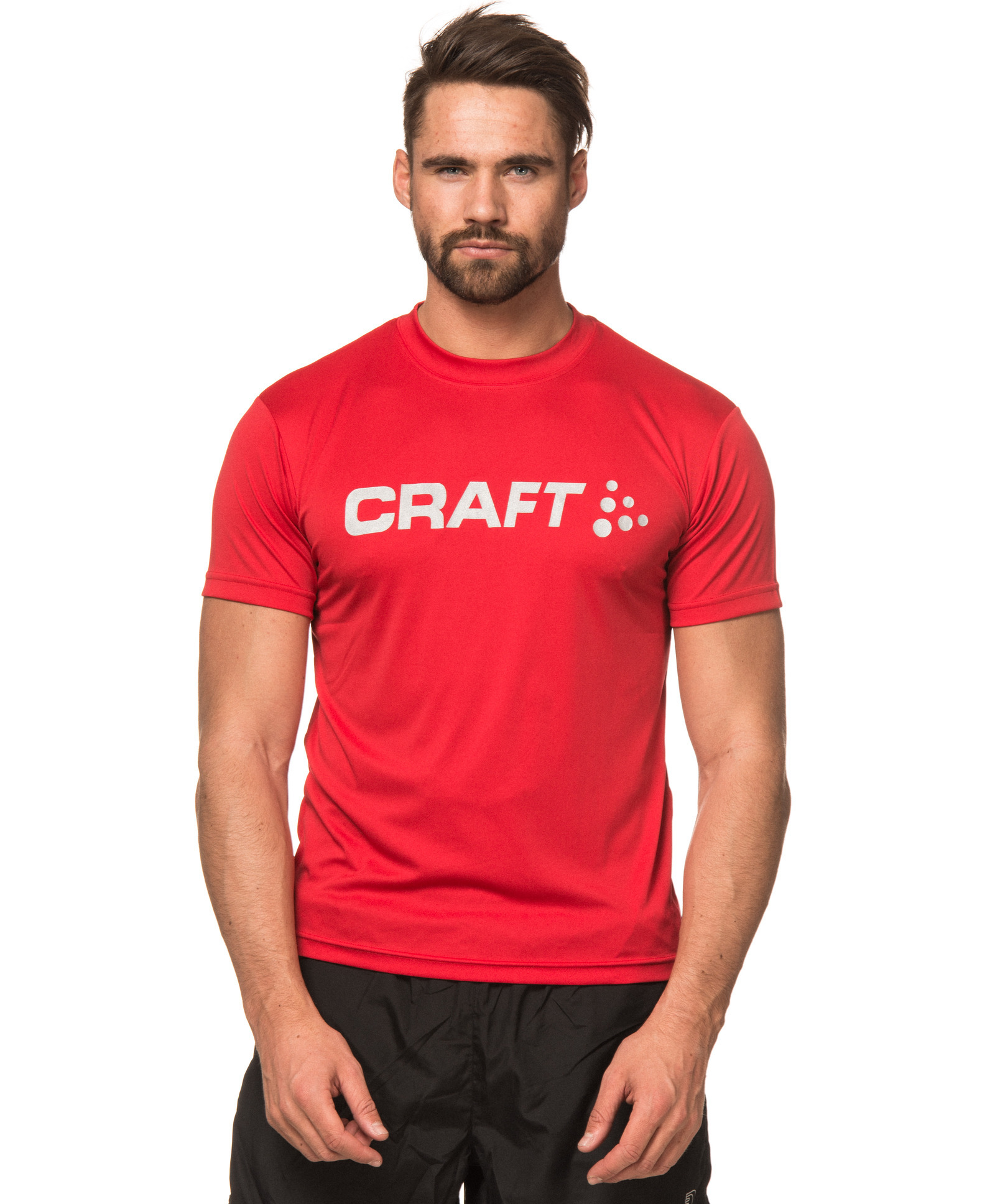 Футболка Craft Active Run Logo Tee мужская red - 2