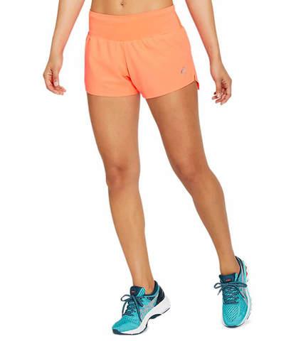 """Asics Road 3.5"""" Short шорты для бега женские коралловые"""
