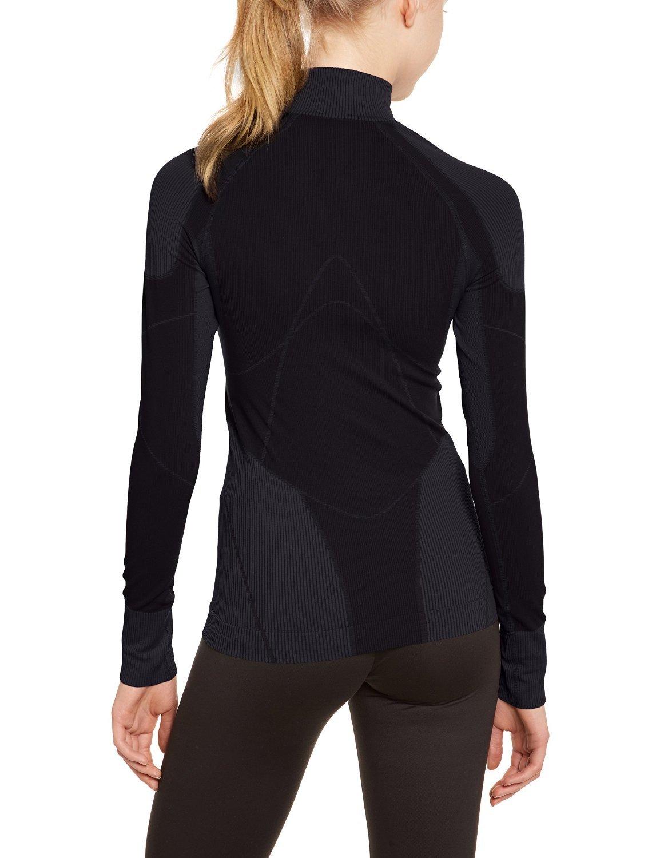 Термобелье Рубашка Craft Warm Zip женская темно-серая - 3