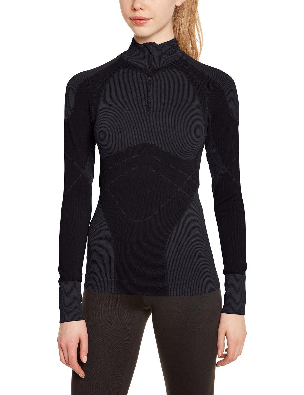 Термобелье Рубашка Craft Warm Zip женская темно-серая - 2