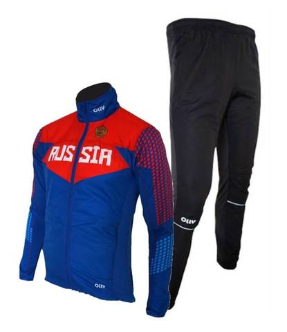 Olly Russia костюм для бега унисекс blue-black