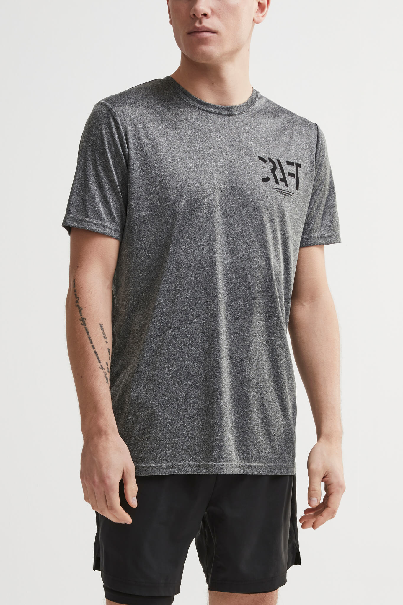 Craft Eaze SS Graghic футболка спортивная мужская grey - 2