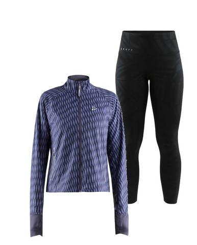 Craft Breakaway Charge костюм для бега женский черный-синий