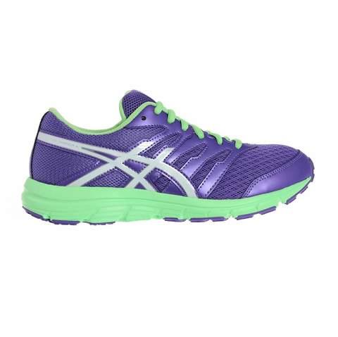 Asics Gel-Zaraca 4 Gs кроссовки для бега подростковые фиолетовые-салатовые