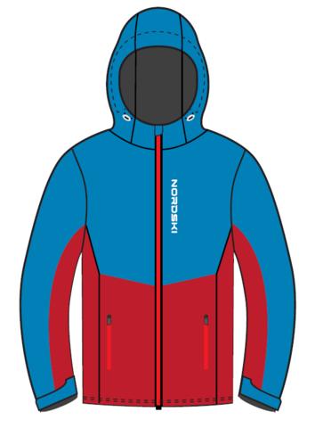 Nordski Montana Premium RUS утепленный лыжный костюм женский Blue-Red