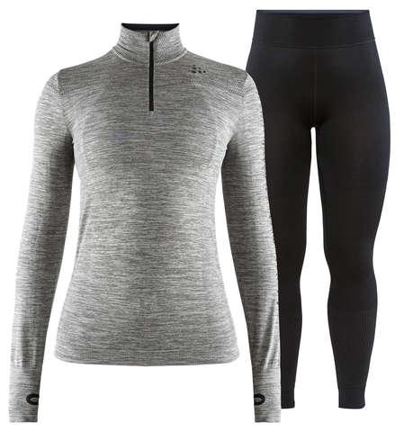 Craft Fuseknit Comfort комплект термобелья женский на молнии grey-black