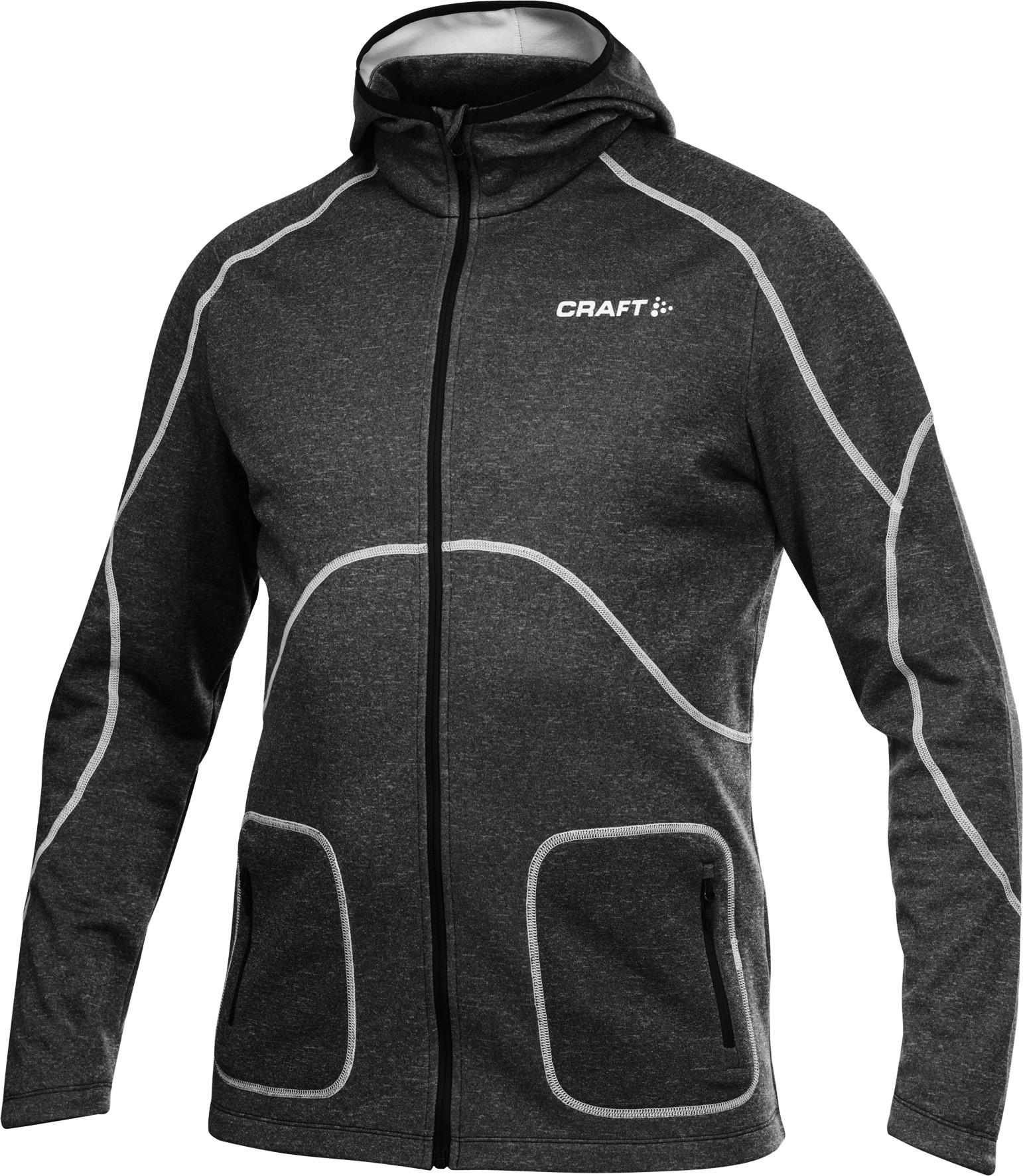 Толстовка Craft Active Hood Zip черная мужская