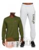 Asics Chest Big Logo спортивный костюм мужской хаки - 1