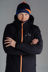 Nordski Pulse лыжная утепленная куртка мужская черная