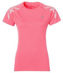 Футболка женская Asics Stripe Short Sleeve Top розовая