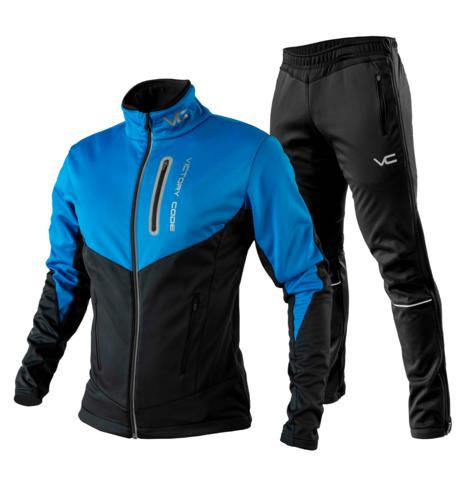 Victory Code Go Fast разминочный лыжный костюм синий