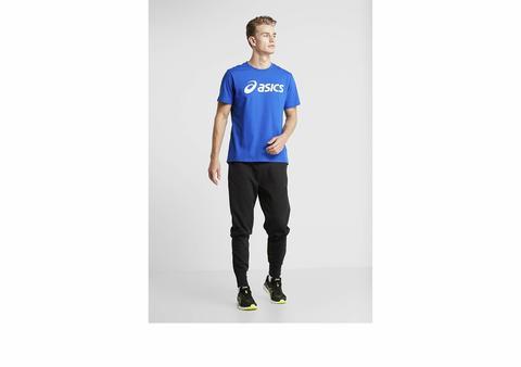 Asics Big Logo Tee футболка для бега мужская синяя