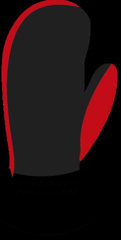 Nordski Arctic Membrane варежки black-red