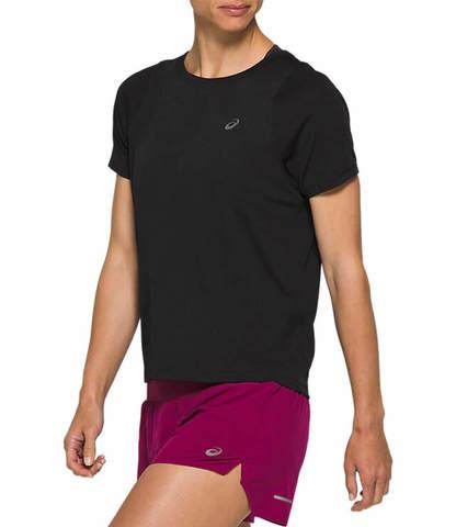 Asics Tokio Ss Top футболка для бега женская черная